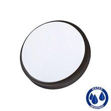 Plafón LED redondo IP54 Ø17x4,5cm 12W negro