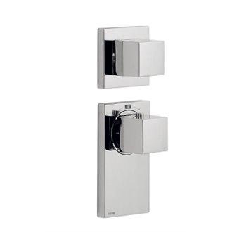 Grifo termostático de empotrar1 o 2 vías Block System Tres