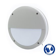 Plafón LED media luna IP65 gris