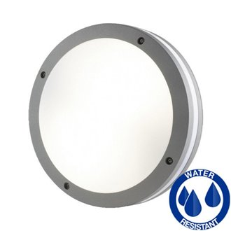 Plafón LED redondo IP65 gris