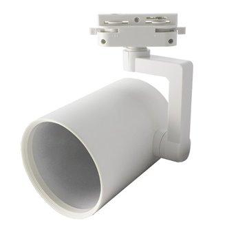 Foco carril cilíndrico E27 blanco