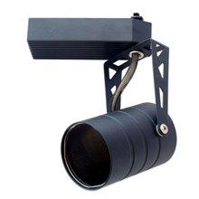 Foco carril cilíndrico GU10 negro