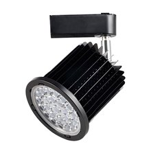 Foco LED carril orientable 24W negro
