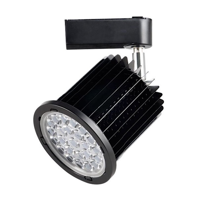 Foco LED carril orientable 24W negro