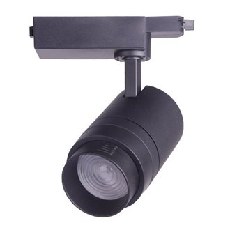 Foco LED carril ajustable 30W negro