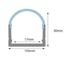 Perfil Tira LED rectangular aluminio 2 cm x1 metro