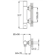 Grifo termostático ducha Manacor Teka Futurbaño