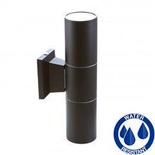Aplique negro aluminio 2xGU10