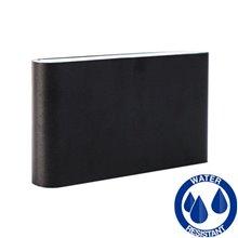 Aplique negro aluminio LED 2x6W