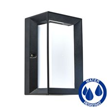 Aplique aluminio negro rectangular E27