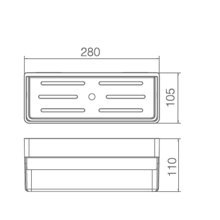 Estante de PVC blanco rectangular Imex