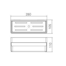 Estante de PVC negro rectangular Imex