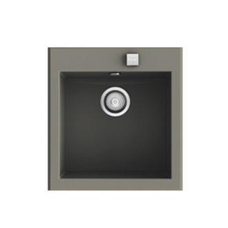 Fregadero de 1 cuba Tundra 46,8 x 52cm Shira Poalgi