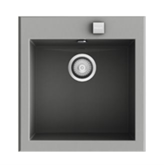 Fregadero de 1 cuba Metalizado 46,8 x 52cm Shira Poalgi