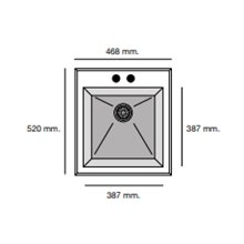 Fregadero de 1 cuba Blanco 46,8 x 52cm Shira Poalgi