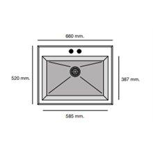 Fregadero de 1 cuba Concret 66 x 52cm Shira Poalgi