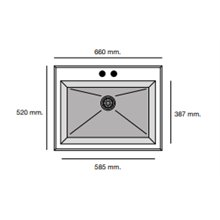 Fregadero de 1 cuba Blanco 66 x 52cm Shira Poalgi