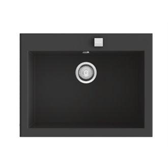 Fregadero de 1 cuba Negro Liso 66 x 52cm Shira Poalgi