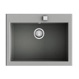 Fregadero de 1 cuba Metalizado 66 x 52cm Shira Poalgi