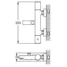 Grifo termostático ducha-baño Nerea Futurbaño