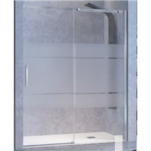 Mampara puerta corredera y lateral fijo para ducha decorado Clio LU102 Kassandra