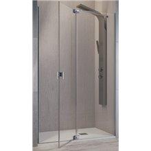 Mampara angular fijo + puerta pivotante SL603+SL602 Kassandra