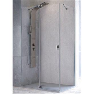 Mampara angular fijo + puerta pivotante SL603 Kassandra