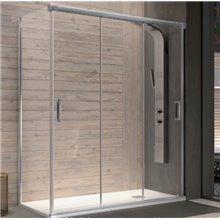 Mampara frontal 3 puertas correderas y lateral fijo decorado Clio BN101 Kassandra