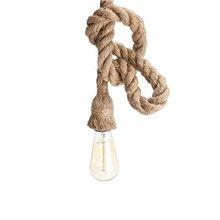 Lámpara colgante cuerda E27