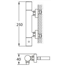 Grifo termostático ducha Nerea Futurbaño