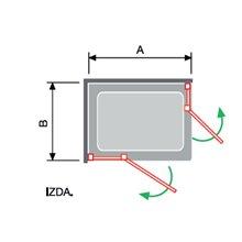 Mampara angular 2 fijos + 2 puertas abatibles NA405 Kassandra