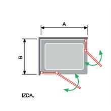 Mampara angular 2 fijos + 2 puertas abatibles NA505 Kassandra