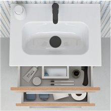Conjunto mueble 2 cajones con lavabo y espejo Street Royo