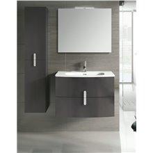 Mueble de baño con lavabo cerámico 80cm Round Royo