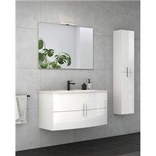 Mueble de baño con lavabo cerámico 100cm Round Royo