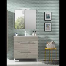 Mueble de baño con lavabo cerámico 80cm Confort Royo