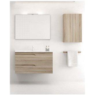 Mueble de baño 2 cajones con lavabo cerámico de fondo reducido Vitale Royo
