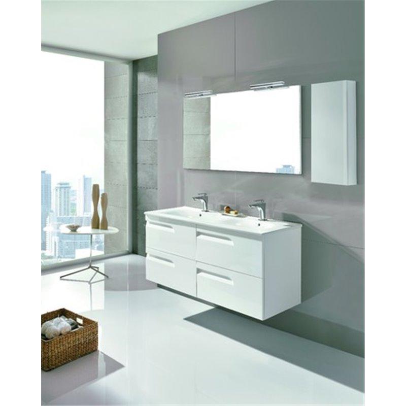 Mueble de baño 4 cajones con lavabo cerámico 2 senos 120cm ...