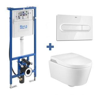 Pack smart toilet In-Wash suspendido Inspira ROCA