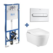 Pack smart toilet In-Wash suspendido INSPIRA ROCA