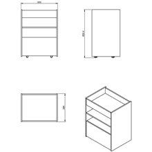 Carro rectangular Container COSMIC