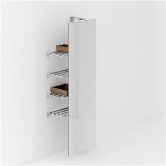Espejo giratorio + 4 estantes toalleros Container COSMIC