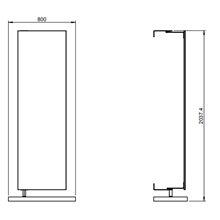 Espejo giratorio + estante toallero Container COSMIC