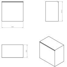 Mueble 1 cajón 55cm acabado brillo Global Container COSMIC
