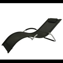 Tumbona chaise lounge textilene negro Outsunny