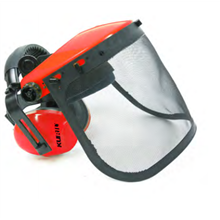 Pantalla metálica con auriculares de Motogarden