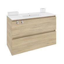 Mueble con lavabo porcelana rectangular 100cm Roble nature B-Box BATH+