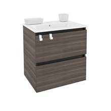 Mueble con lavabo porcelana rectangular 60cm Fresno B-Box BATH+