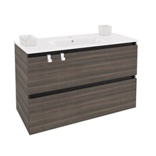 Mueble con lavabo porcelana rectangular 100cm Fresno  B-Box BATH+