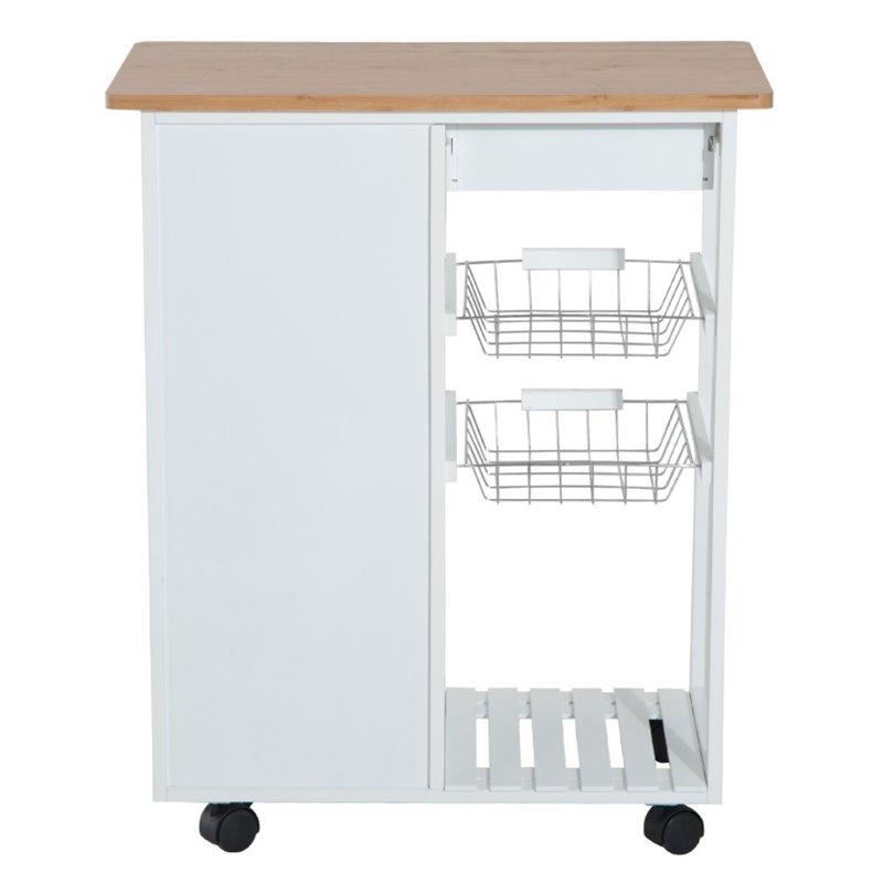 Carro de cocina completo madera blanco 801-023 - Comprar a ...